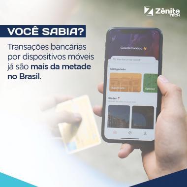 Transações bancárias por dispositivos móveis já são mais da metade no Brasil